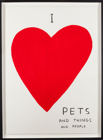 David Shrigley, 'I Love Pets', 2019