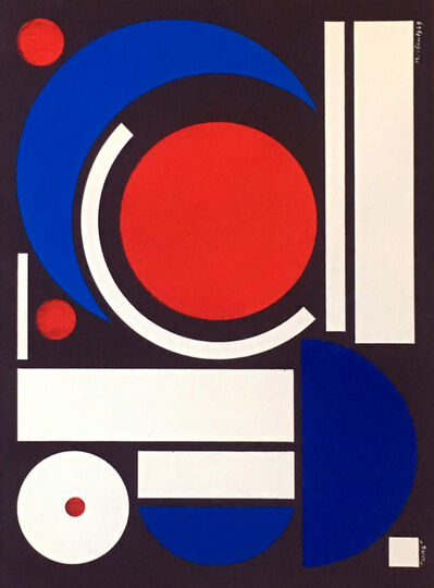 Auguste Herbin, '1950s Auguste Herbin Serigraph', 1954
