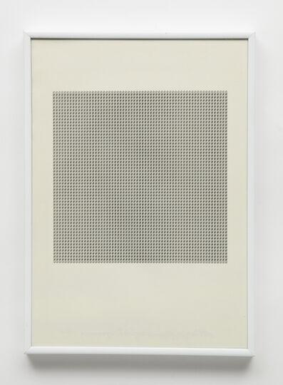 """Maurizio Nannucci, 'Dattilogramma """"S""""', 1964"""