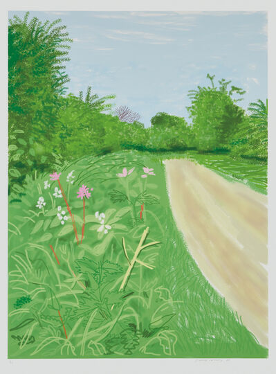 David Hockney, 'The Arrival of Spring in Woldgate, East Yorkshire in 2011, April 26, 2011', 2011