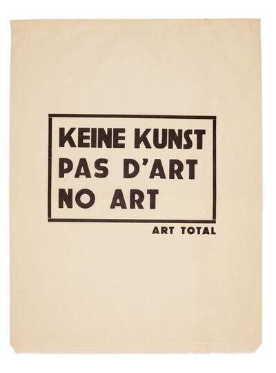 Ben Vautier, 'Keine Kunst, Pas d'Art, No Art', 1961