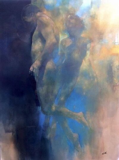 Bill Bate, 'Breaking Through - abstract figurative painting', 2020