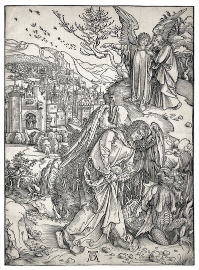 Albrecht Dürer, 'The Angel with the Key to the Bottomless Pit', 1498