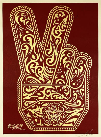 Shepard Fairey, ''Peace Fingers' (RARE Gift A/P)', 2006