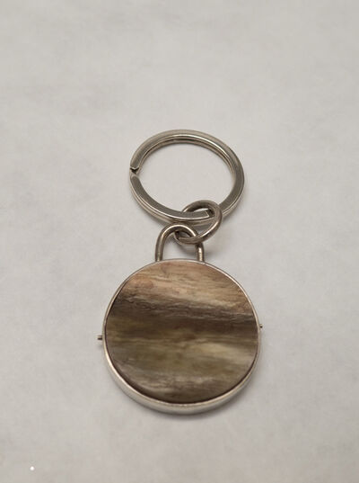 Gillian Carrara, 'Silver & Calf Horn Key Ring', 2012