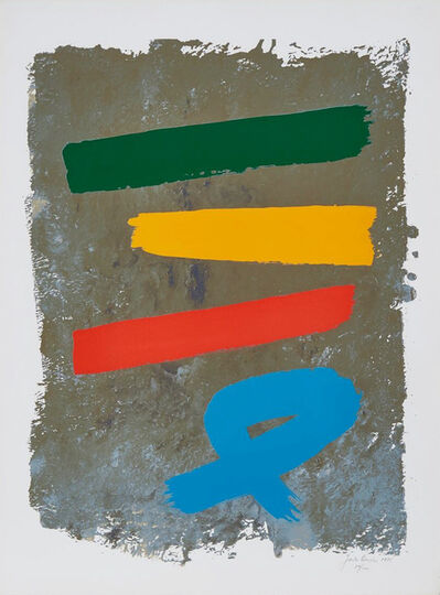 Jack Bush, 'Three and Blue Loop', 1971