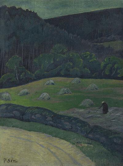 Paul Sérusier, 'Paysanne aux foins, Châteauneuf-du-Faou', ca. 1893