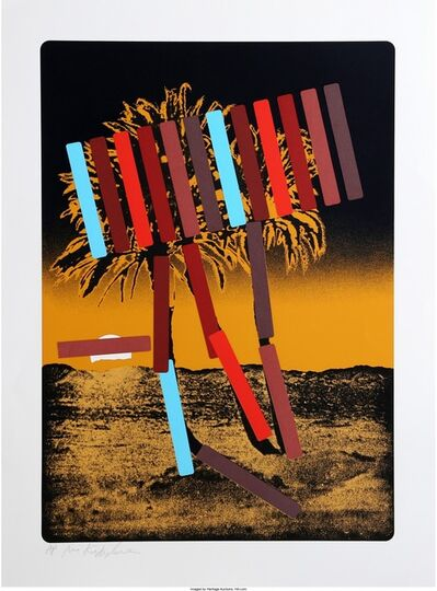 Menashe Kadishman, 'Yellow and Black Palm', circa 1979