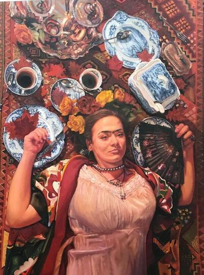 Leslie DuPratt, 'Coffee With Frida'