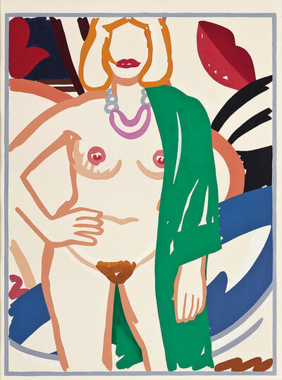 Tom Wesselmann, 'Study for Claire standing with Viviane (green robe)', 1992