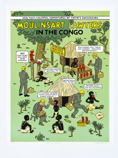 Anton Kannemeyer, 'Moulinsart Lawyers in the Congo I', 2012