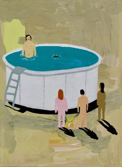 Alexander Paulus, 'Amazing how one turd can ruin an above ground pool party', 2018
