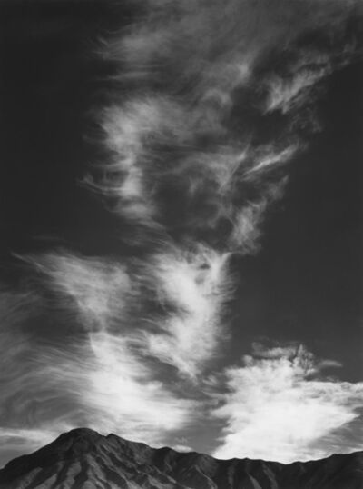 Ansel Adams, 'Clouds above Golden Canyon, Death Valley National Park, California', 1946