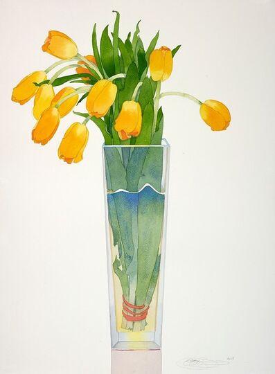 Gary Bukovnik, 'Yellow Tulips in a Tall Vase', 2019