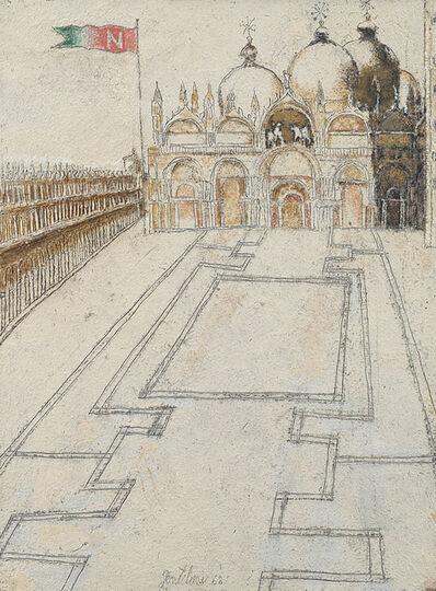Franco Gentilini, 'Piazza San Marco', 1968