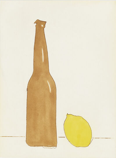 Tom Marioni, 'Beer with Lemon', 2017