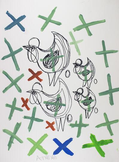 Arunan Dharmalingam, 'Chooks and Crosses', 2017