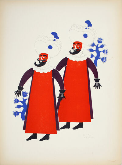 Carlos Merida, 'Two Dancers Called 'Chinelos' From Tepoztlan', 1940