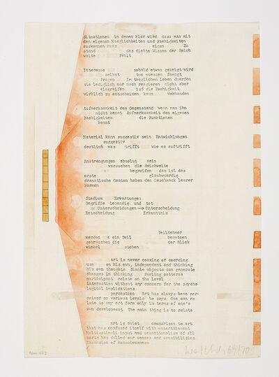 Franz Erhard Walther, 'Werkzeichnung', 1969/1970