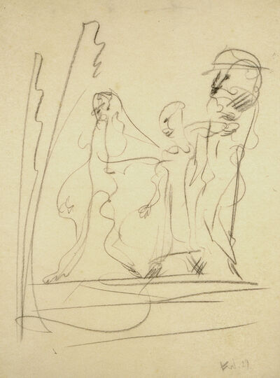 Fritz Winter, 'Untitled (3 figures)', 1929
