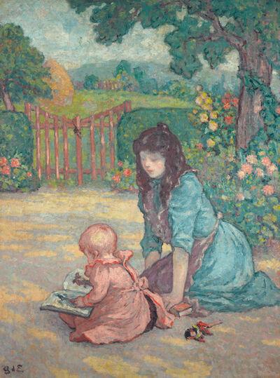 Georges d'Espagnat, 'La Lecture au Jardin', ca. 1898