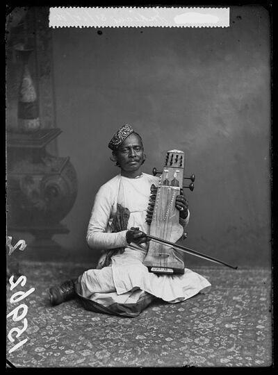 London Stereoscopic Co., 'Sarangi Player', 1885
