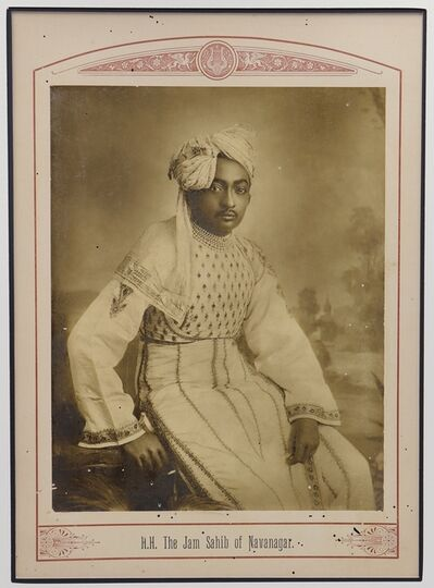 Raja Deen Dayal, 'The Jam Sahib of Navanagar', ca. 1890