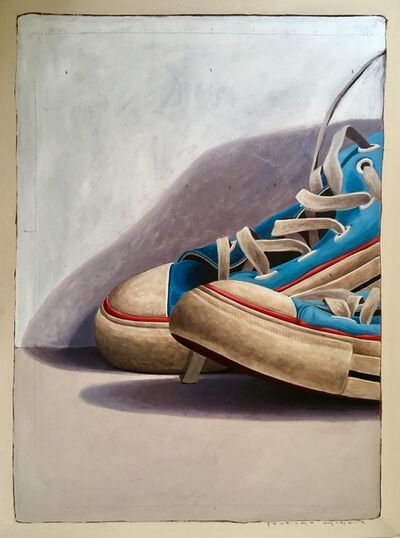 "Santiago Garcia, '""#1025"" Large Scale Cropped Portrait of Old Blue Converse Sneakers', 2010-2017"