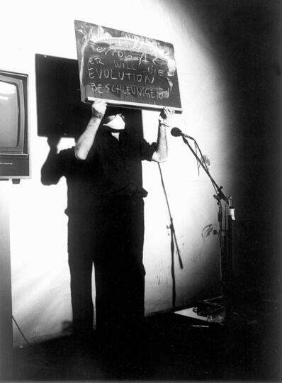 Peter Weibel, 'Was will der Terrorist', 1979