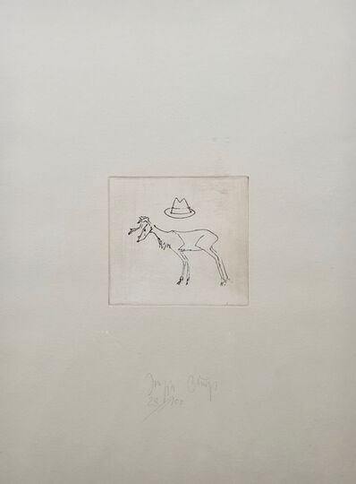 Joseph Beuys, 'Hirsch un Hut', 1980