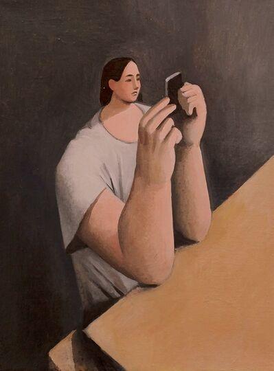 Tony Toscani, 'Checking Instagram', 2018