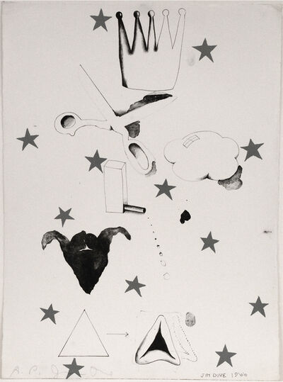 Jim Dine, 'Composition (Hamantash)', 1966