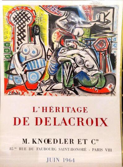 Pablo Picasso, ' L'Héritage de Delacroix', 1964