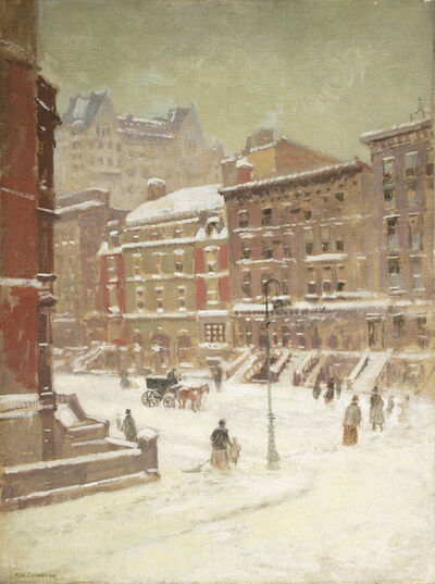 Paul Cornoyer, 'New York City View in Winter '