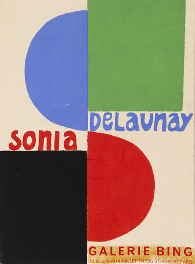 Sonia Delaunay, 'Poster for Sonia Delauney exhibition at Galerie Bing, Paris', 1964