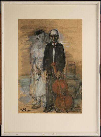 OSKAR HERMAN, 'The Old Musician', 1940-1950