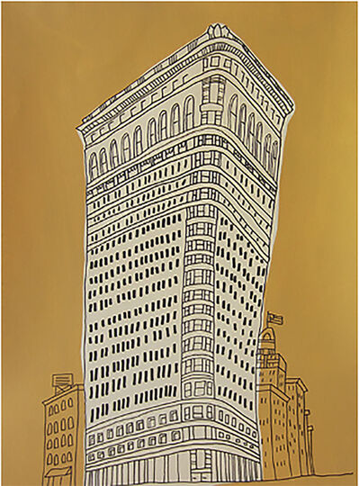 Marz Junior, 'NYC Flat Iron Building-Yellow ', 2019