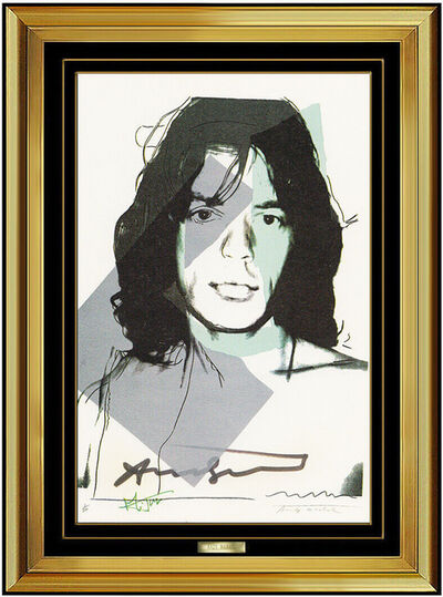 Andy Warhol, 'Andy Warhol Original Hand Signed Lithograph Mick Jagger Portrait Authentic Art', 1975