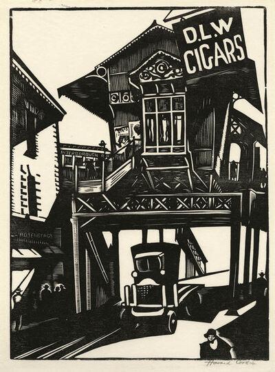 Howard N. Cook, 'Christopher Street', 1928