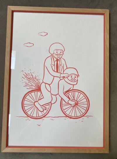 Joan Cornellà, 'Bikers' Risograph Framed', 2015