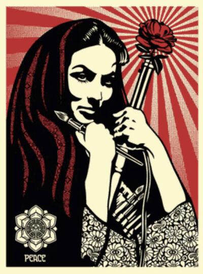 Shepard Fairey, 'Revolutionary Woman with Brush', 2007