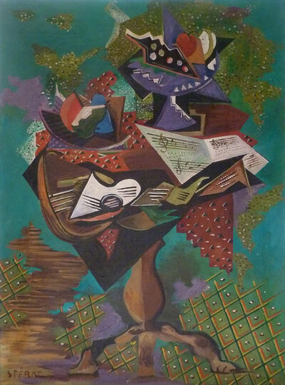 Serge Férat, 'Still Life with Guitar and Gueridon', ca. 1945