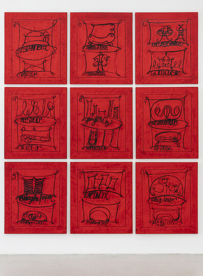 Matt Mullican, 'Untitled (Learning From That Person's Work; City, Red)', 2009
