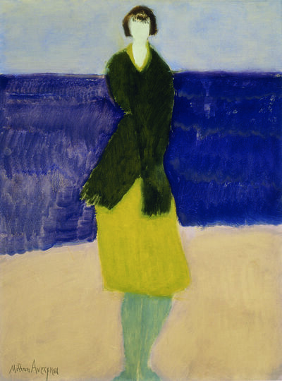 Milton Avery, 'Walker by the Sea', 1961