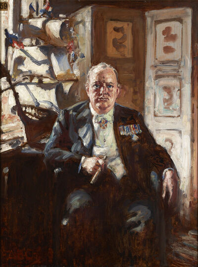 Alfred Egerton Cooper, 'Winston Churchill in his Study at Chartwell', 1947