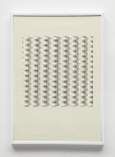 """Maurizio Nannucci, 'Dattilogramma """"(""""', 1964"""