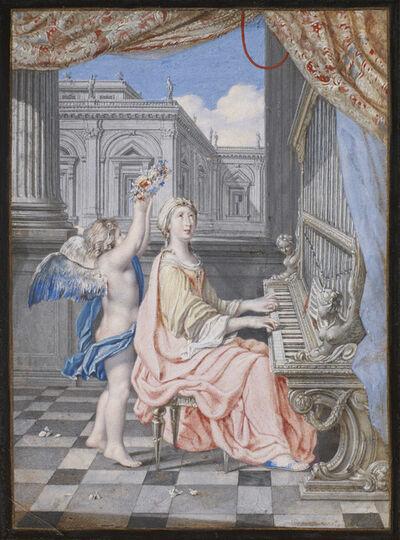 Joseph Werner, 'St. Cecilia playing the organ', ca. 1660