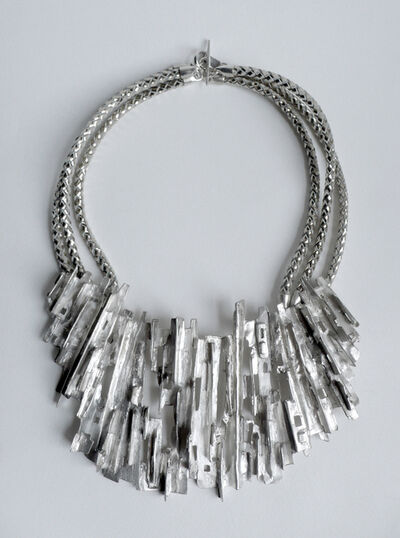 Tabor and Villalobos, 'Ridged Cityscape Medallion Necklace', 2012