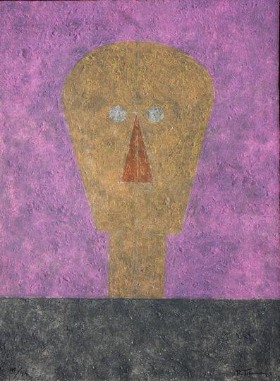 Rufino Tamayo, 'Cabeza Sobre Fondo Rosa', 1984