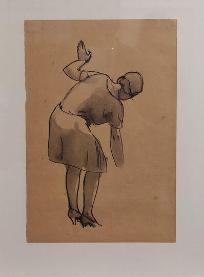 Julio González, 'Jeune femme se baisant', 1927